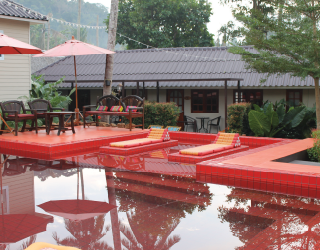 holiday in thailand | red pool and deck at harleymoon hideaway resort